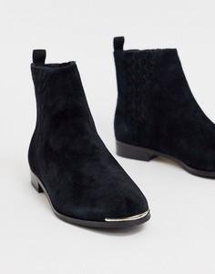 Кожаные ботинки на плоской подошве Ted Baker Iveca - Черный