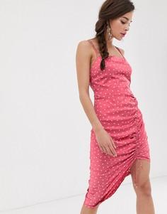 Платье-комбинация миди Finders Keepers Emilia - Розовый