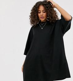 Свободное платье-футболка ASOS DESIGN Tall - Черный