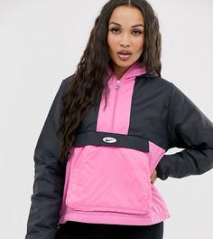 Черно-розовая куртка на флисовой подкладке Nike - Черный