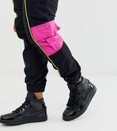 Черные кроссовки средней высоты Nike Jordan 1 - Черный