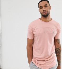 Длинная футболка с закругленными краями Le Breve Tall - Розовый