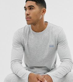 Серый лонгслив с логотипом BOSS bodywear - Серый