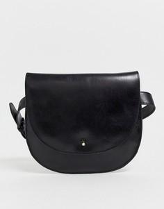 Кожаная сумка на ремне Urbancode - Черный