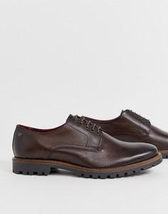 Коричневые туфли на шнуровке Base London Hogan - Коричневый