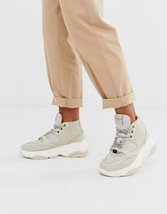 Высокие походные кроссовки Selected Femme - Кремовый