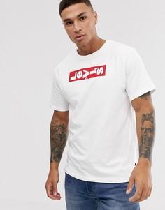 Oversize-футболка с круглым вырезом и логотипом Levis - Белый