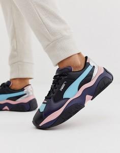 Черные кроссовки с розовыми вставками и эффектом металлик Puma Storm.Y - Черный