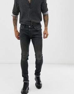 Черные джинсы-сигареты AllSaints - Черный