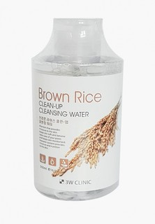 Мицеллярная вода 3w Clinic с экстрактом коричневого риса, 500 мл