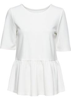 Блузки с коротким рукавом Футболка с баской Bonprix