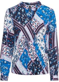 Блузки с длинным рукавом Блузка с эффектом запаха Bonprix
