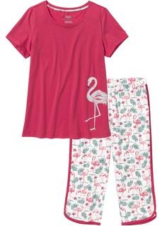 Ночное белье Пижама с брюками капри Bonprix