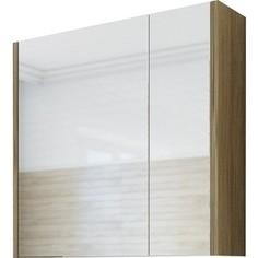 Зеркальный шкаф Sanflor Ларго 75 швейцарский вяз, левый (H0000000043)