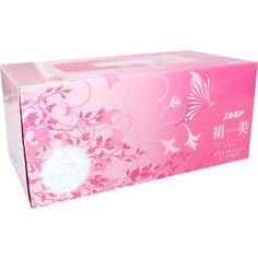 Салфетки бумажные Kami Shodji ELLEMOI Kinu-bi розовые с шелком 2 слоя 200 шт в пачке