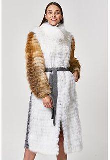 Облегченная шуба из меха лисы и енота Virtuale Fur Collection