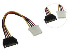 Аксессуар Кабель переходник Akasa 15pin SATA PSU Power to 4pin PSU Molex Connector 15cm AK-CBPW03-15
