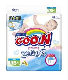 Подгузники Goo.N S 4-8кг 84шт 4902011751321 /4902011856217 Goon.