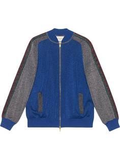 Gucci куртка-бомбер с люрексом