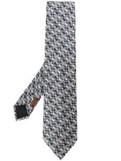 Hermès Pre-Owned галстук 2000-х годов с геометричным узором