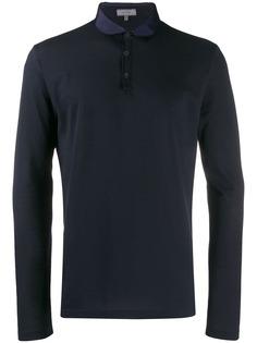 Lanvin рубашка-поло с контрастным воротником