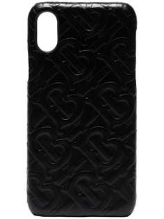 Burberry чехол для iPhone X с тиснением логотипа