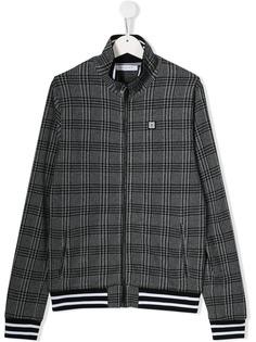 Givenchy Kids куртка в клетку на молнии