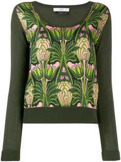 Prada Pre-Owned трикотажная блузка 1990-х годов с цветочным принтом