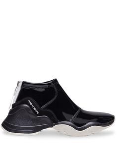Fendi блестящие высокие кроссовки