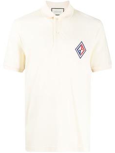 Gucci рубашка-поло с нашивкой-логотипом