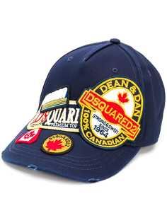Dsquared2 кепка с нашивками и логотипом