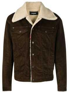 Dsquared2 куртка с воротником из овчины