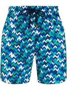 Missoni Mare плавки-шорты с узором зигзаг