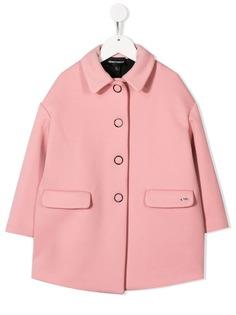 Emporio Armani Kids однобортное пальто