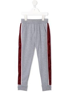 Monnalisa спортивные брюки с контрастными полосками и логотипом