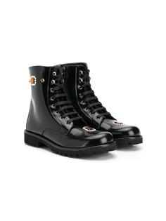Dolce & Gabbana Kids декорированные ботинки