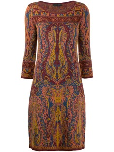 Etro трикотажное платье с принтом пейсли