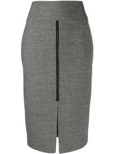 Tom Ford юбка-карандаш в ломаную клетку