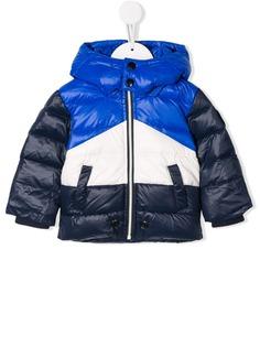 Diesel Kids куртка-пуховик в стиле колор-блок