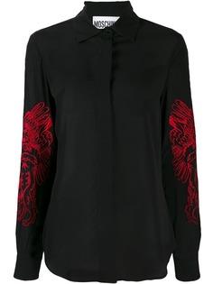 Moschino блузка Roman с длинными рукавами и вышивкой