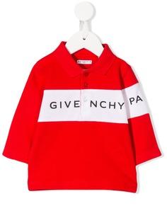 Givenchy Kids рубашка-поло с логотипом и полосками