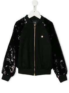 Young Versace куртка-бомбер с пайетками