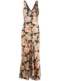 Paco Rabanne платье макси с цветочным принтом
