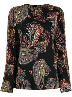 Etro блузка с длинными рукавами и принтом пейсли