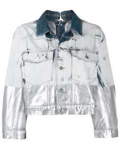 Diesel джинсовая куртка с эффектом металлик