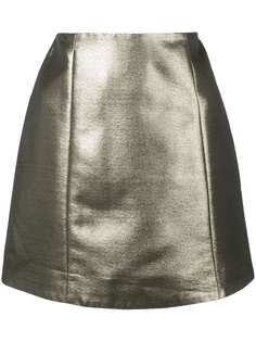 Alexa Chung юбка мини с эффектом металлик
