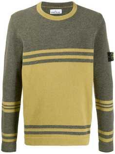 Stone Island crewneck colour block sweater