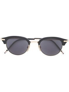Thom Browne Eyewear солнцезащитные очки в круглой оправе