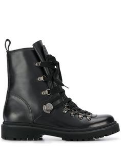 Moncler ботинки в стиле милитари на шнуровке