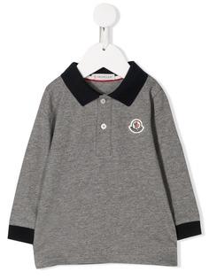 Moncler Kids рубашка-поло с нашивкой-логотипом